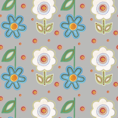 Fiesta, Grey | alexcolombo.com fabric by studioalex on Spoonflower - custom fabric