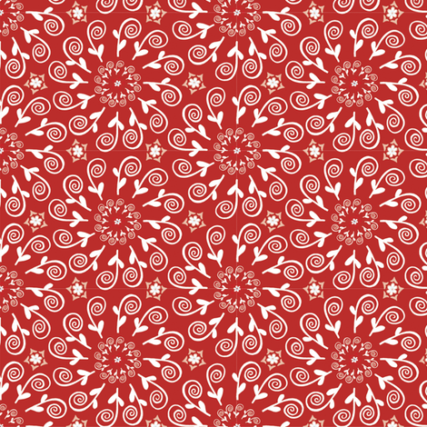 Magic Swirls, Red | alexcolombo.com fabric by studio•alex on Spoonflower - custom fabric