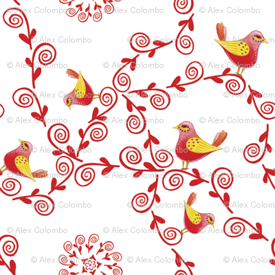 Magic Swirls - Birds | alexcolombo.com