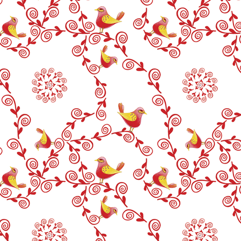 Magic Swirls - Birds | alexcolombo.com fabric by studio•alex on Spoonflower - custom fabric