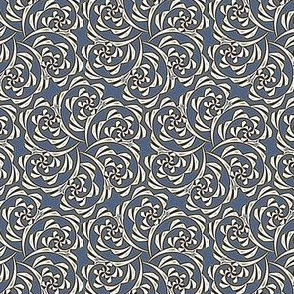 Fiddlehead Swirl  -slate blue