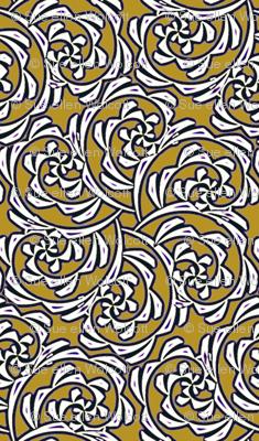 Fiddlehead Swirl  -mustard