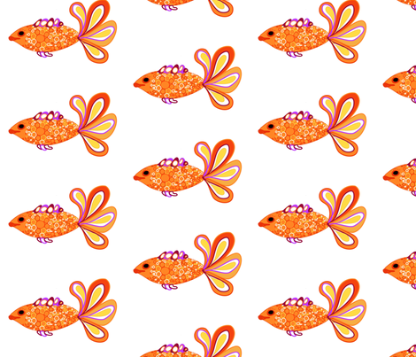 Fancy Fish (decal) fabric by kcs on Spoonflower - custom fabric