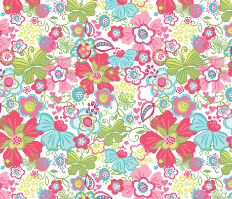 Millie White fabric by meganhagelcreative on Spoonflower - custom fabric