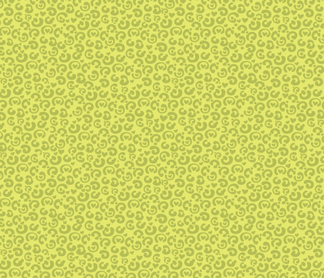 Kitty Calico Limeade fabric by meganhagelcreative on Spoonflower - custom fabric