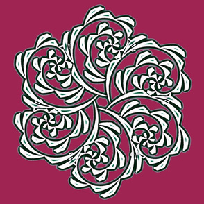 Fiddlehead Swirl Medallion___-wine red