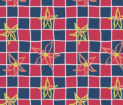 Chequerboard for Matisse fabric by shelleymade on Spoonflower - custom fabric