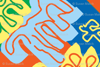 Surfin' Menton in the Summer - Matisse-like Medallions