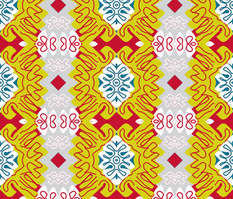 Menton in Winter - Matisse-like Medallions fabric by susaninparis on Spoonflower - custom fabric