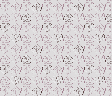 Sighthound Hearts fabric by lobitos on Spoonflower - custom fabric
