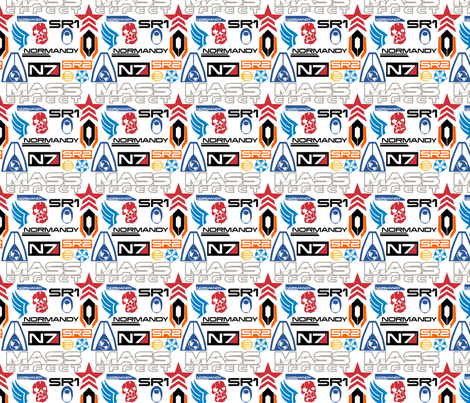 Mass Effect Icons fabric by retropopsugar on Spoonflower - custom fabric