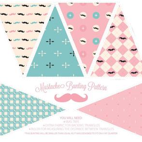 Mustachio Bunting Pattern