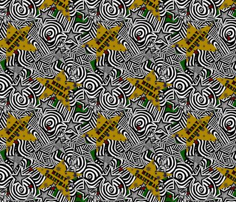 Starshine Christmas fabric by glanoramay on Spoonflower - custom fabric