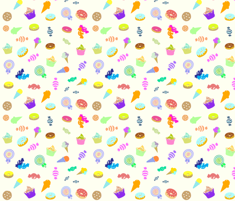 Yummy Sweets fabric by cutiecat on Spoonflower - custom fabric
