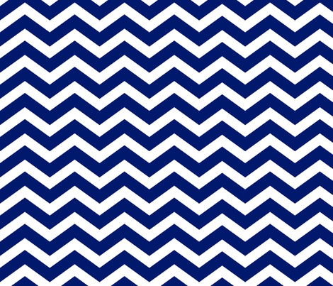 dark royal blue chevron fabric by blissdesignstudio on Spoonflower - custom fabric