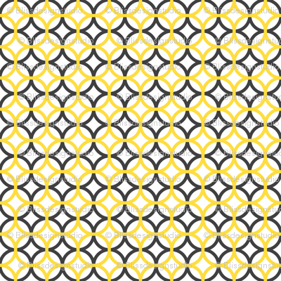 gray and yellow overlapping circles
