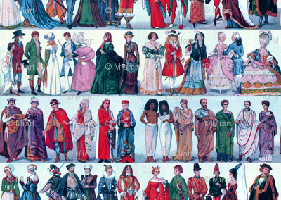 Historic Costume Blue