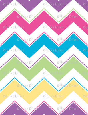 Calypso Chevron - Bright Pink