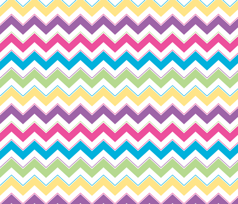 Calypso Chevron - Bright Pink fabric by foxtrotpress on Spoonflower - custom fabric