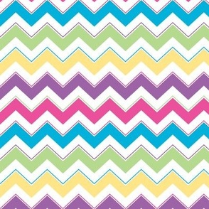 Calypso Chevron Small - Bright Pink