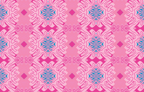 Barbie in Menton - Matisse-like Medallions fabric by susaninparis on Spoonflower - custom fabric