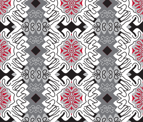 Damask Effect in Neutrals - Matisse-like Medallions