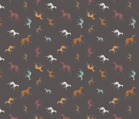 Azawakhs fabric by lobitos on Spoonflower - custom fabric