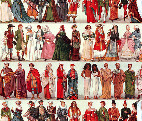 Wall paper (Large) Historic Fashion