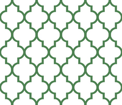 Kelly Quatrefoil fabric by willowlanetextiles on Spoonflower - custom fabric