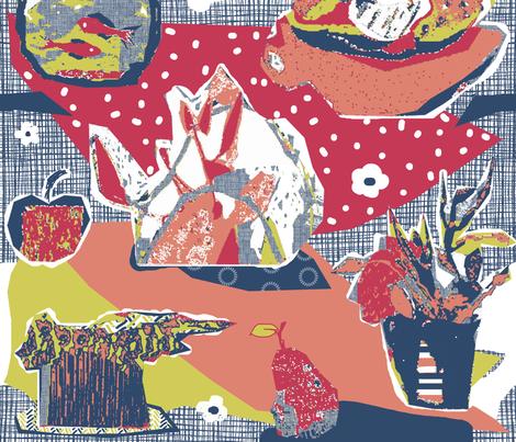 art lesson matisse inspired  fabric by katarina on Spoonflower - custom fabric