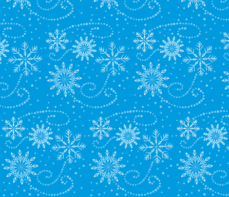Snowflake Swirls fabric by hmooreart on Spoonflower - custom fabric