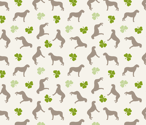 Irish Wolfhounds fabric by lobitos on Spoonflower - custom fabric
