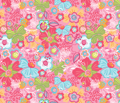 Millie Pink fabric by meganhagelcreative on Spoonflower - custom fabric