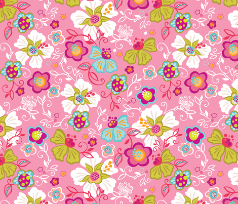 Adelia Sweetly fabric by meganhagelcreative on Spoonflower - custom fabric