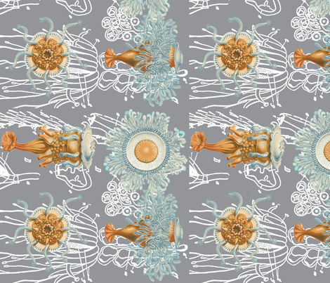 haeckel's critters-ch fabric by craftyscientists on Spoonflower - custom fabric
