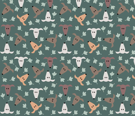 Sighthound Heads fabric by lobitos on Spoonflower - custom fabric