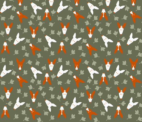 Ibizan Hound Heads fabric by lobitos on Spoonflower - custom fabric