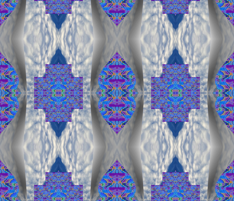 Blue River in the Clouds fabric by anniedeb on Spoonflower - custom fabric