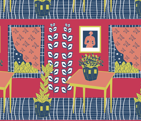 a room fabric by kociara on Spoonflower - custom fabric