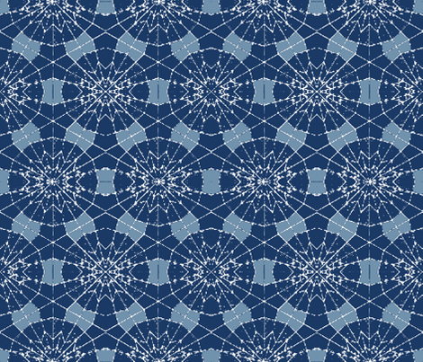 Flor Azul fabric by studiokym on Spoonflower - custom fabric