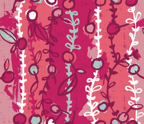 Les Cerises au matin fabric by cynthiafrenette on Spoonflower - custom fabric