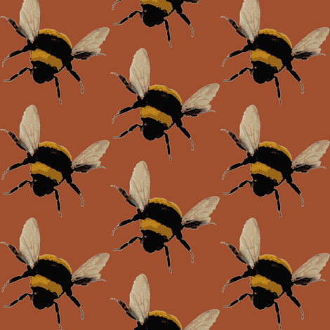 bee's on copper fabric by paragonstudios on Spoonflower - custom fabric