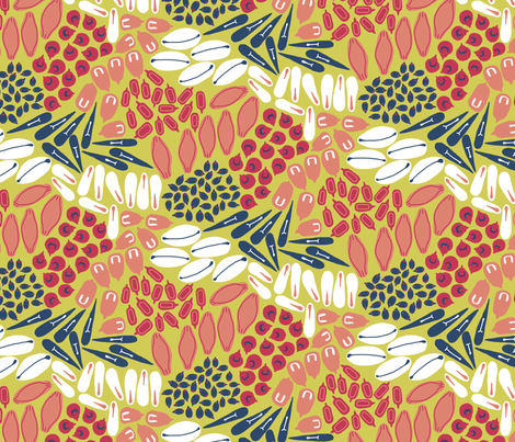 Tribute to Matisse's Father, the Grain Merchant fabric by mongiesama on Spoonflower - custom fabric