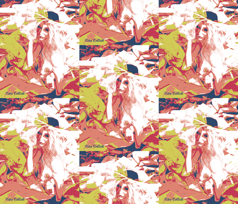 Modern Angel woman fabric by petaisalive on Spoonflower - custom fabric