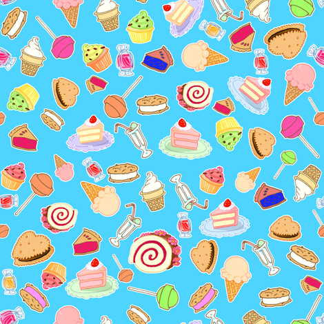 Tiny Sweets fabric by jadegordon on Spoonflower - custom fabric
