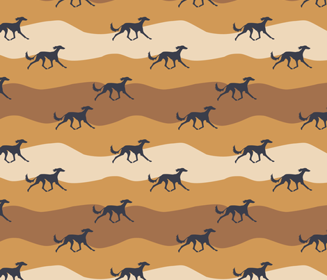 Salukis fabric by lobitos on Spoonflower - custom fabric