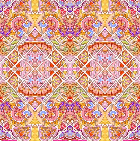 At the Raja's Request fabric by edsel2084 on Spoonflower - custom fabric