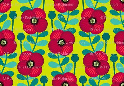 Poppy stem - grass green
