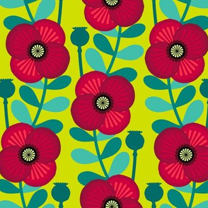 Poppy stem - grass green