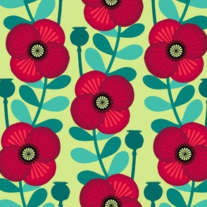 Poppy stem - pale green